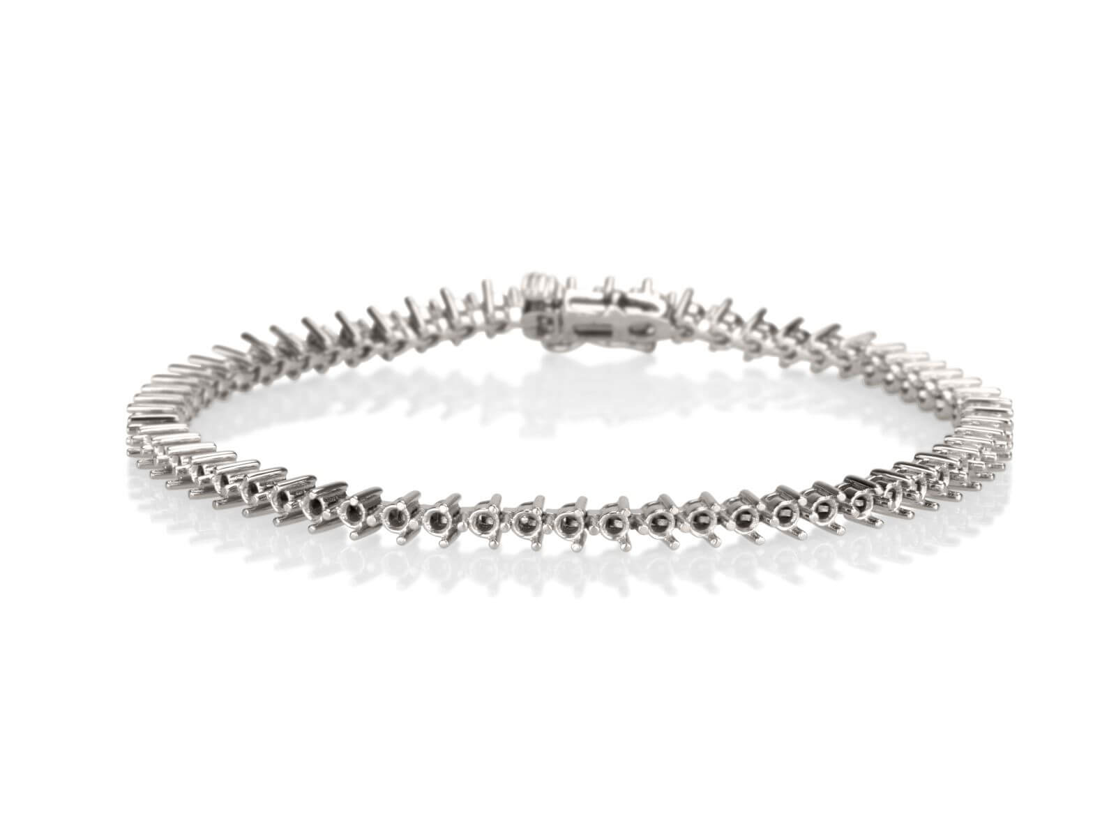 Tennis bracelet 3 prongs